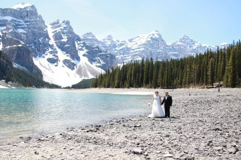 Morraine Lake wedding